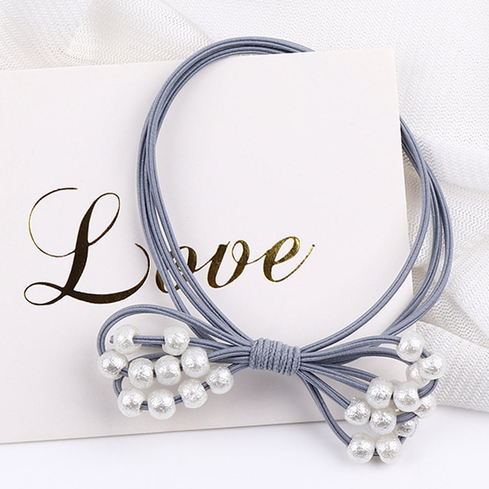 1 Pcs Fashion Women Elegant Elastic Hair Bands Ponytail Holder Rubber Bands Girls Cute Scrunchie Headbands Pearl Hair Ring