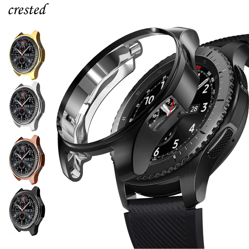 Case For Samsung Galaxy Watch 46mm/42mm Strap TPU Plated Screen Protector Cover Bumper S 3 42/46 Mm Gear S3 Frontier Band