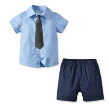 Shirt-Set Wedding-Party-Costume Baby Toddler Formal Boys Summer Kid Short Tie Gentleman
