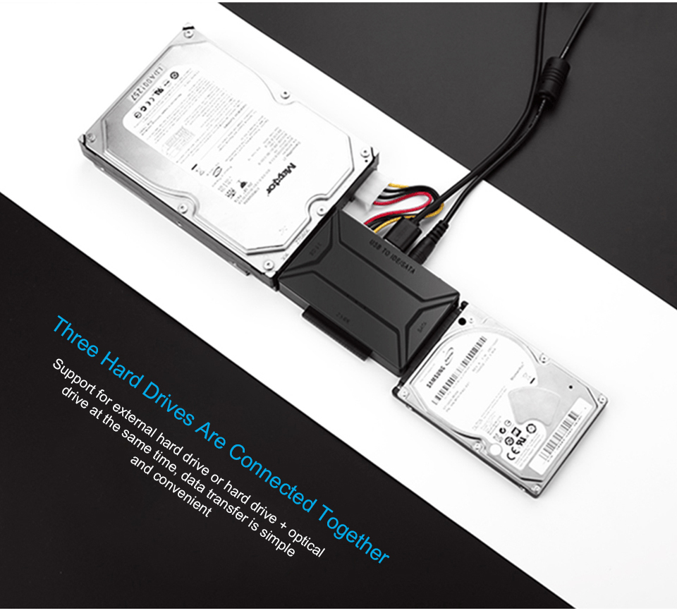 Image 3 - USB 3,0 на SATA IDE Внешний жесткий диск конвертер для 2,5 и 3,5 дюймов HDD SDD IDE адаптер (ЕС plug)