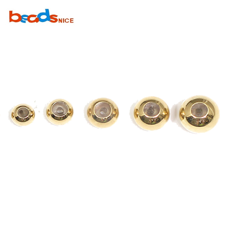 Beadsnice Gold Filled Smart Bead Seamless Round Silicone Stopper Positioning Wholesale DIY Jewelry Findings Spacer Beads ID39799