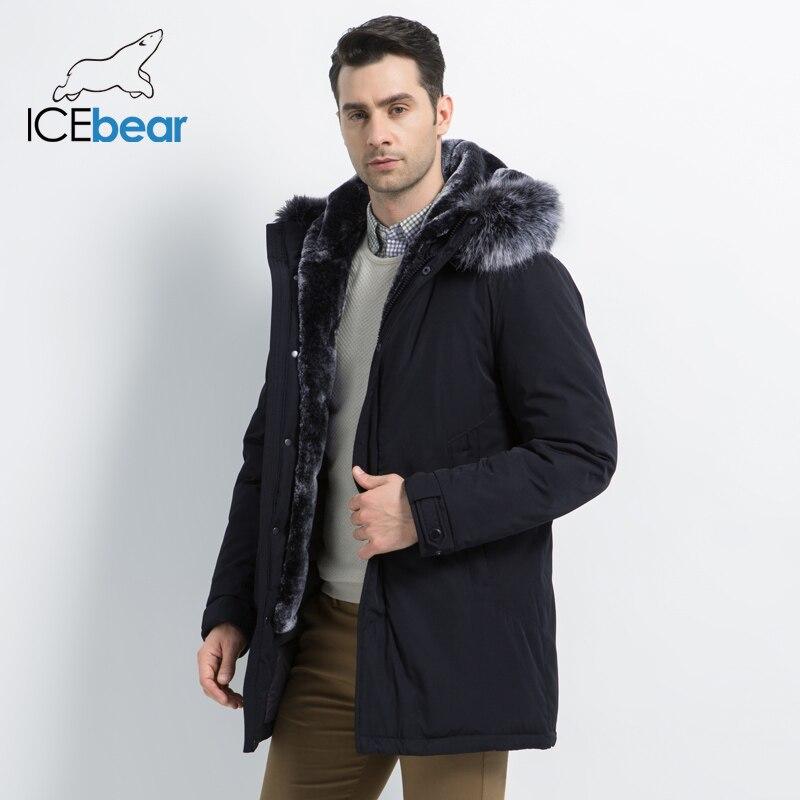 ICEbear 2019 nouveau hiver hommes veste à capuche homme veste de haute qualité homme vêtements de mode marque mâle manteau MWD19928D