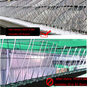 Image 3 - حار 20 قطعة 10 متر بستان الفولاذ المقاوم للصدأ الطيور واقية إبرة في الهواء الطلق تركيب الطيور مبيد فيلا تثبيت بعيدا عن جهاز الطيور