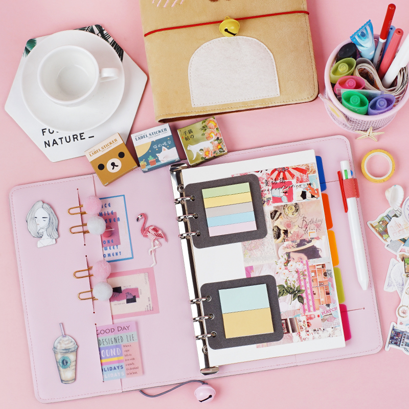 Plush Cat Diary Book Student NoteBook Travel Planner Function Notepad Girls Journal Card Holder Contains 80 sheets of paper
