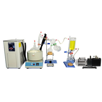 ZOIBKD Lab Sesame Purification Extraction Equipment 5L Short Path Distillation and Chiller /Vacuum Pumps usa hot scale small short path distillation equipment 5l short path distillation with stirring heating mantle include cold trap