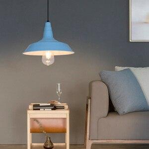 Image 4 - Artpad norte da europa ferro luz pingente industrial do vintage sala de jantar cozinha barra estudo hotel luminárias led branco preto