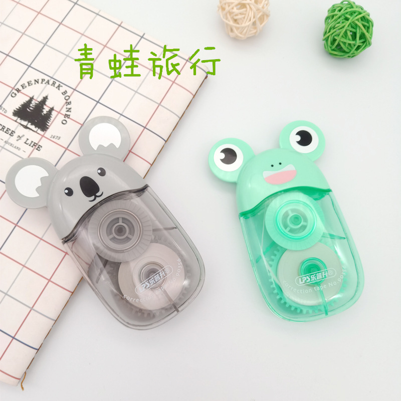 LPS New Products 90356 Leisure Holiday Students Corretion Pen/fluid Creative Cute Animal Frog Koala Correction Tape