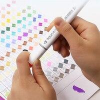 Touchnew 30/40/60/80 marcadores de cor mangá desenho marcadores caneta álcool baseado esboço oleoso duplo marcador caneta arte suprimentos