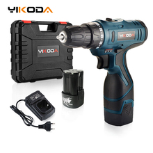 Cordless-Drill Power-Tools Electric-Screwdriver Lithium-Battery DIY YIKODA Rechargeable