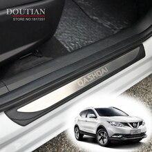 Cubiertas de puerta de acero inoxidable protectores de placa para Nissan Qashqai J11 2017 2018 accesorios de coche