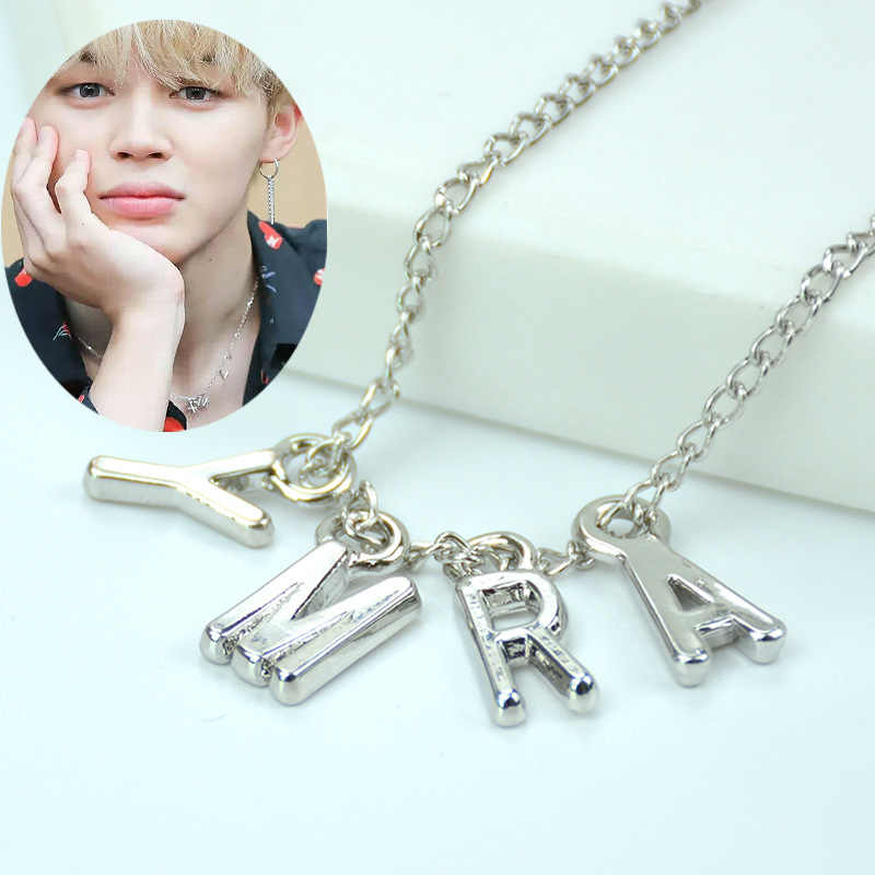 Hfarich Fashion Hot Bangtan Boys Kim Tae Hyung Long Earings Letter Army Jewelry Stainless Steel Finger Heart Earrings for Women
