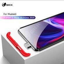 GKK יוקרה מקרה עבור Huawei P חכם Z Y9 ראש 2019 מקרה 3 ב 1 מט קשיח צבעוני עסקי סגנון כיסוי עבור Huawei נובה 5t מקרה