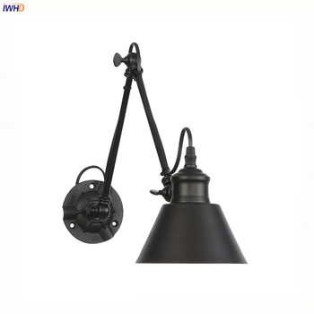 IWHD Adjustable Swing Long Arm Retro Wall Lights For Home Bedroom Mirror Stair Light Loft Decor Industrial Vintage Wall Lamp LED iwhd adjustable swing long arm retro wall lights for home bedroom mirror stair light loft decor industrial vintage wall lamp led