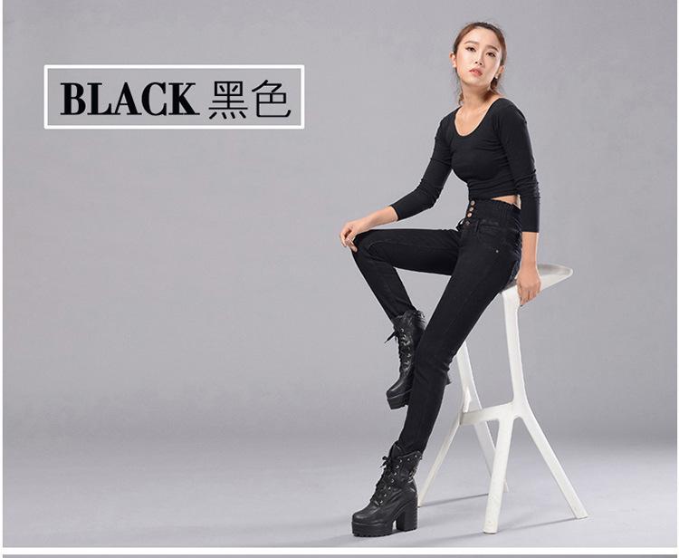 Womens Winter Jeans High Waist Skinny Pants Fleece Lined Elastic Waist Jeggings Casual Plus Size Jeans For Women Warm Jeans 24