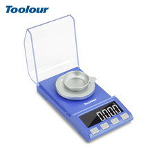 Toolour100g/50gX0.001g Mini Precision Jewelry Scale LCD Display Portable Weighing Scale USB Charging For Lab Medicine Electronic(China)