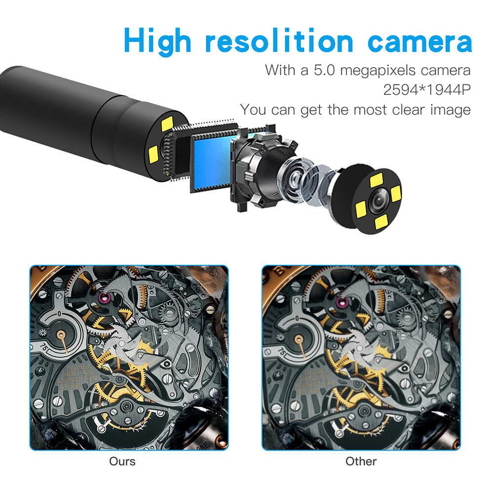 F230 endoscópios à mão profissional com foco automático wifi 500 w 14mm ajustável leds lente boroscópio industrial