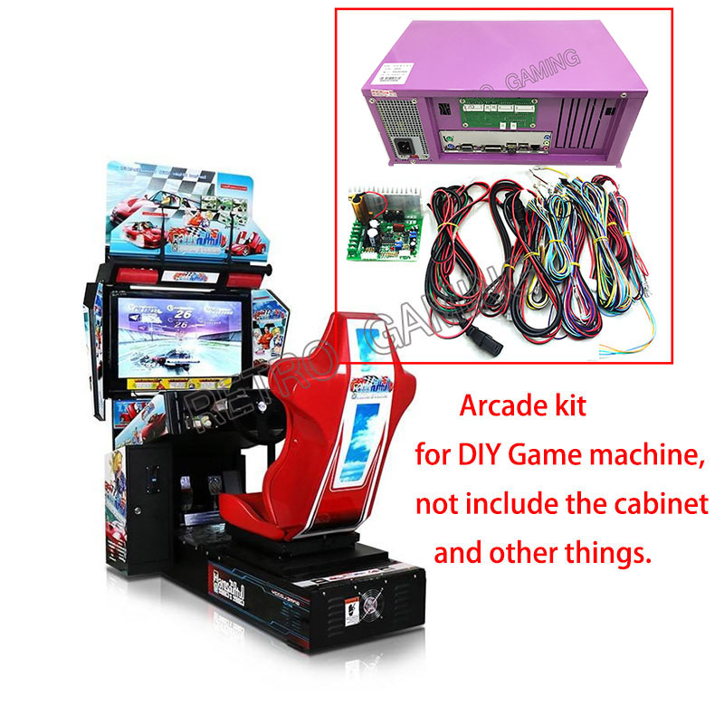 Arcade Kit Outrun Car Racing Motor Driving Game Motherboard TT Motorcycle Simulator Children Racing Game Machine DIY