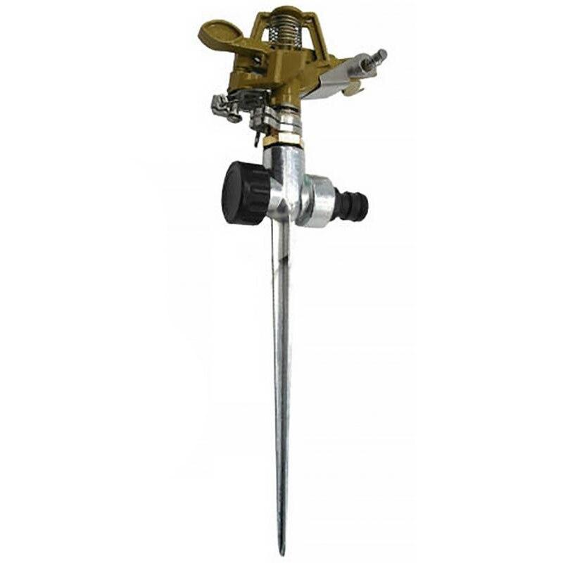 360 grad Dreh Bewässerung Sprayer Sprinkler Für Rasen Garten Hof Golf Gras Metall Impuls Spike Schlauch Wasser Sprinkler Sprayer