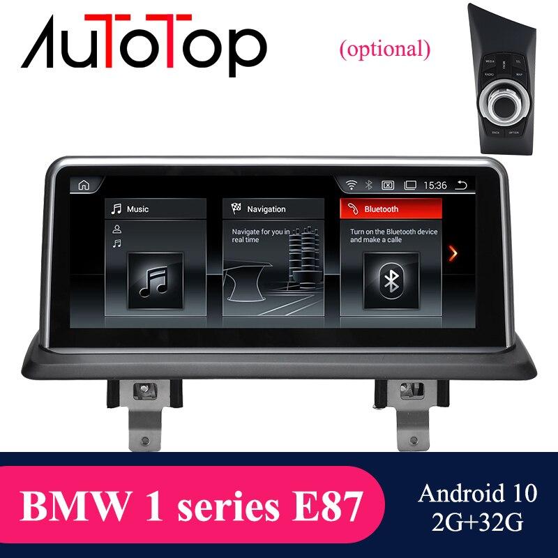 """Autotop 4g + 64g 10.25 """"android 10.0 player multimídia do carro para e87 e81 e82 e88 2004-2012 cic ccc gps navegação mirrorlink carplay"""