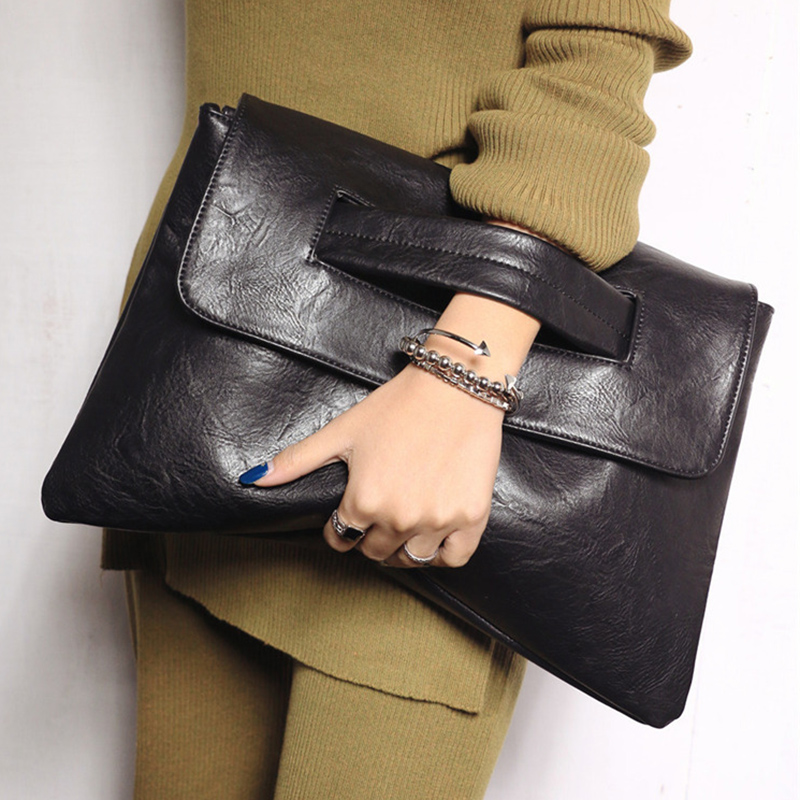 Fashion Women Day Clutch Bag Designer Envelope Shoulder Bags Luxury Pu Leather Crossbody Bag Large Capacity Ladies Evening Purse