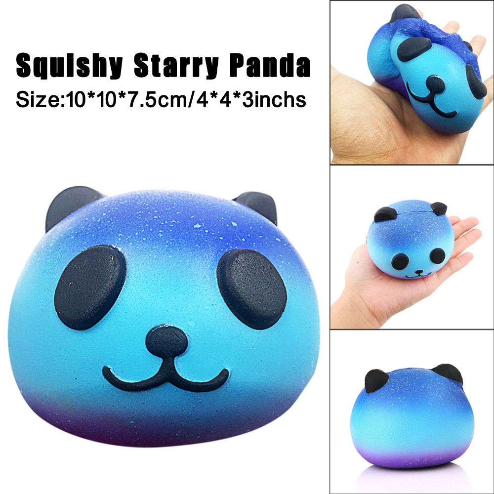 Starry Cute Panda Slow Rising Squeeze Kids Toy Anti-stress Ball Squeeze Soft Sticky Stress Funny Gift Toy L1216