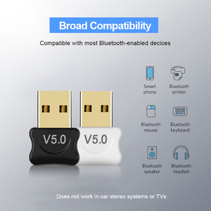 Image 2 - ミニ USB アダプタ USB ドングルワイヤレス USB Bluetooth トランスミッタ BT 5.0 音楽受信機の Bluetooth アダプタコンピュータ PC