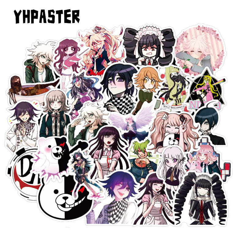 50PCS/Set Danganronpa Japanese Anime Game Sticker For Motorcycle Laptop Skateboard Mobile Phone Guitar DIY Manual Album Stickers