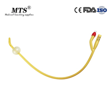 2way 10pcs Médicos Descartáveis dobrar cabeça de Látex Cateter De Foley De Silicone Revestido cateter urinário com Válvula