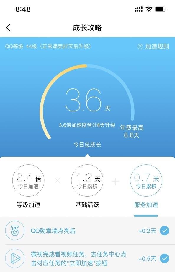 微信扫码QQ成长加速0.5天,网站源码