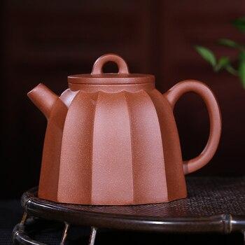 Yixing undressed ore fish roe zhu jin wen Qin Quan mud all hand jin ling stripe teapot 300 ml