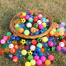 20pcs Small Rubber Bouncing Ball Anti Stress Jumping Balls Kids Water Play Bath Toys Outdoor Games Educational Toy for Children
