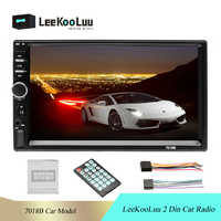 "LeeKooLuu 2 din 7018B Car Stereo 7"" HD Car Radio Bluetooth FM Audio MP5 Player 2din Autoradio Support Rear View Camera Radio Car"
