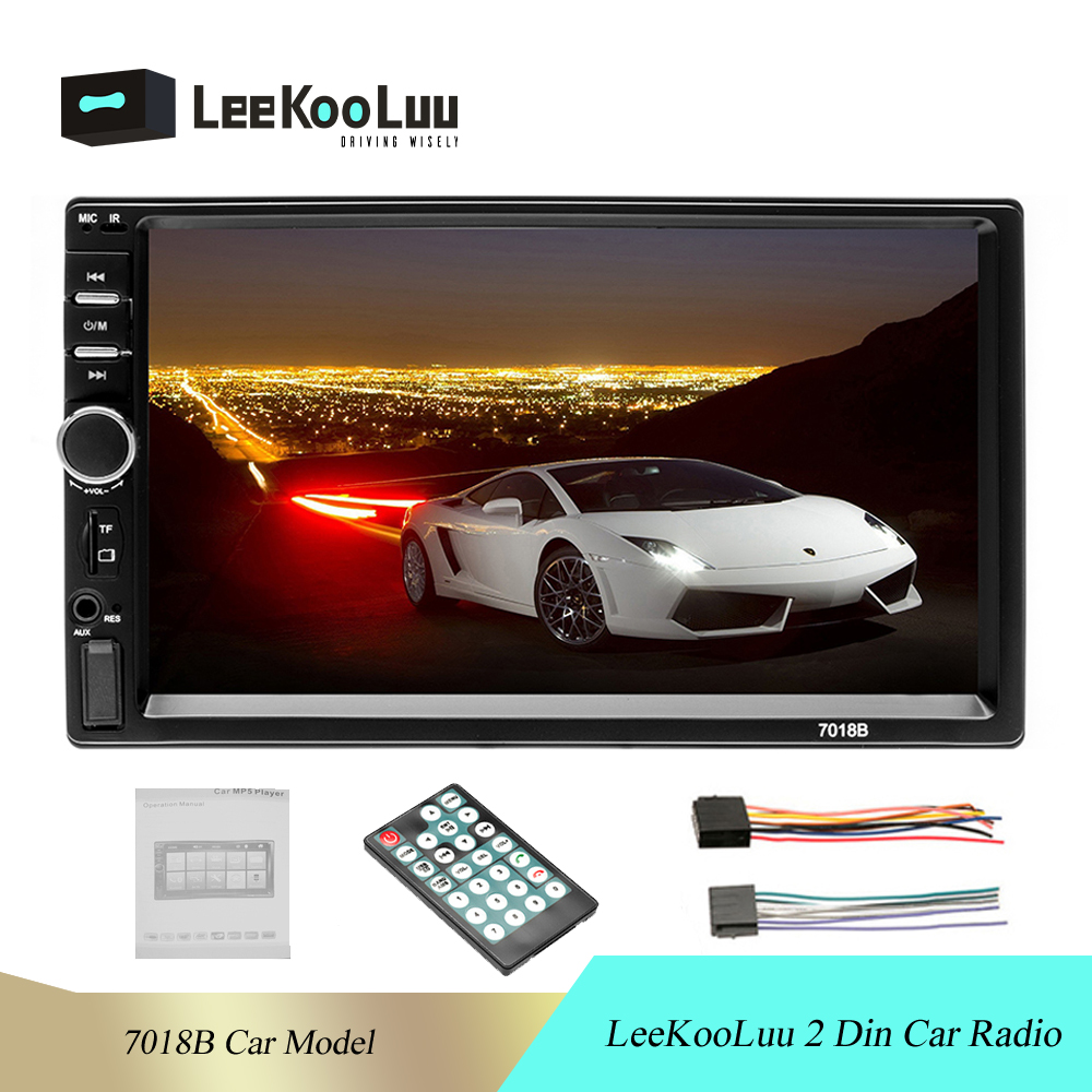 LeeKooLuu 2 din 7018B Car Stereo 7 HD Car Radio Bluetooth FM Audio MP5 Player 2din Autoradio Support Rear View Camera Radio Car image