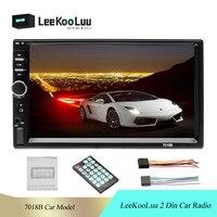 LeeKooLuu 2 din 7018B Car Stereo 7 HD Car Radio Bluetooth FM Audio MP5 Player 2din Autoradio Support Rear View Camera Radio Car