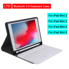 лучшая цена Bluetooth 3.0 Tablet Keyboard Case For iPad Mini 2/3/4/5 7.9 inch Mediapad PU Flip Leather Protective Cover For Apple iPad Case