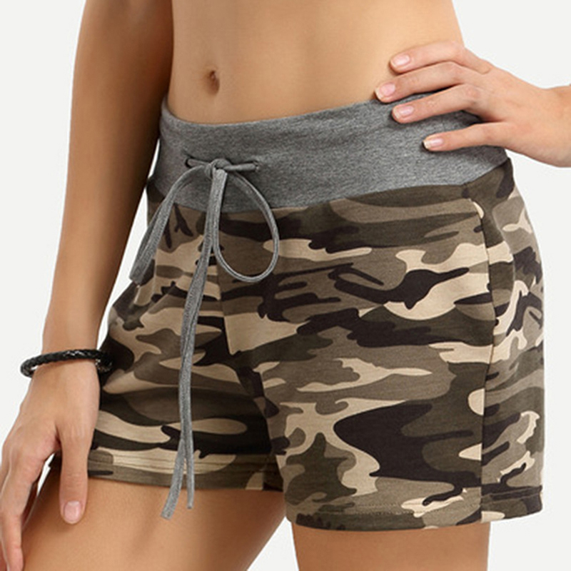 High Quality Fashion Camouflage Shorts Women Cotton Casual Camo Cargo Shorts Army Military Hot Shorts