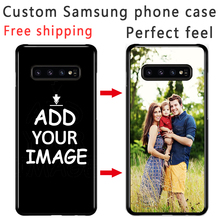 Custom Personalized Phone case Make your Photo images pattern Black Sotf TPU Cover Case for Samsung s8 s9 s10E plus S6 S7 Edge
