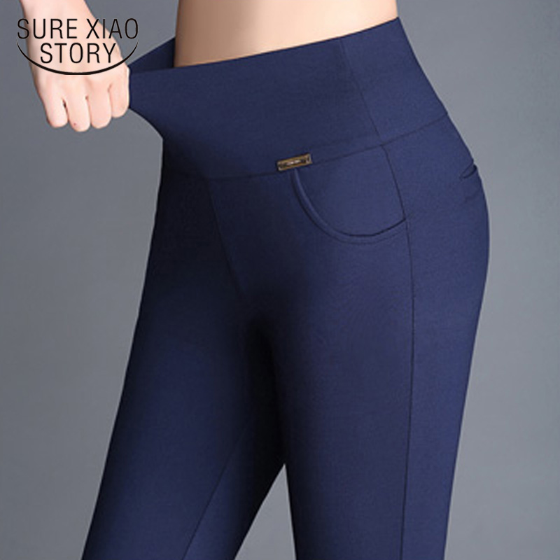 Casual High Waist Stretch Leggings Vintage Plus Size Slim Long Trousers Women Sexy Leggings Office Pencil Pants Women 7229 50