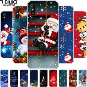 For Redmi 9AT Case Silicone Soft TPU Cute Christmas Phone Cover for Xiaomi Redmi 9 8A 8 7A 7 6 6A Cases Redmi8A Redmi7 Coque