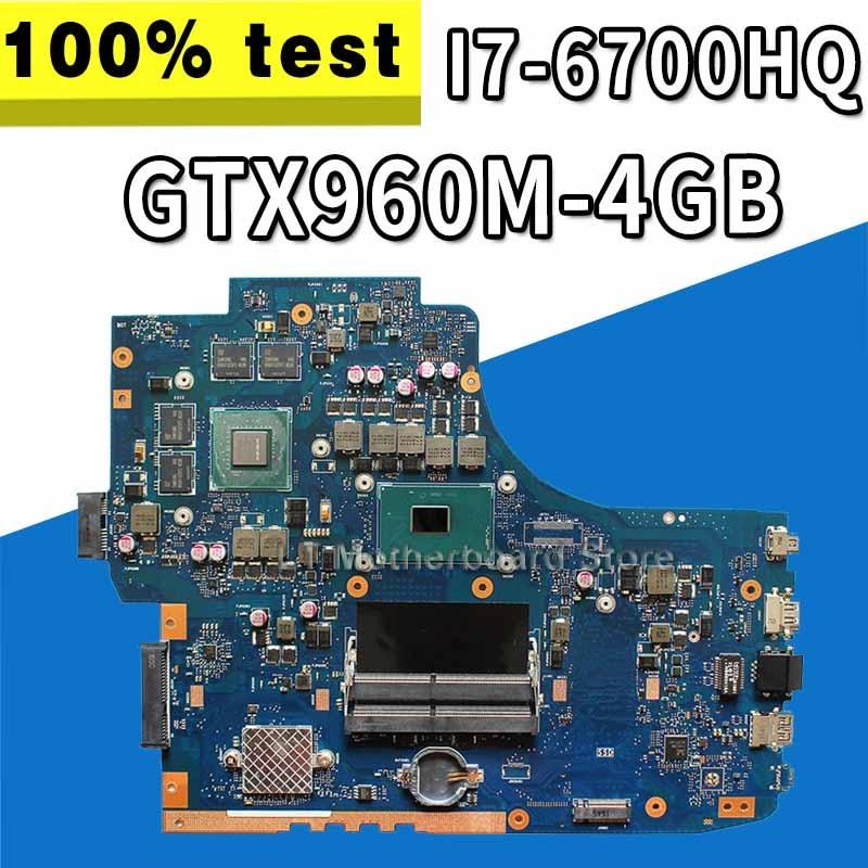 Akemy Parágrafo ASUS GL752VW GL752VL GL752V GL752 laptop motherboard mainboard CPU I7-6700HQ GTX960M-4GB original troca!