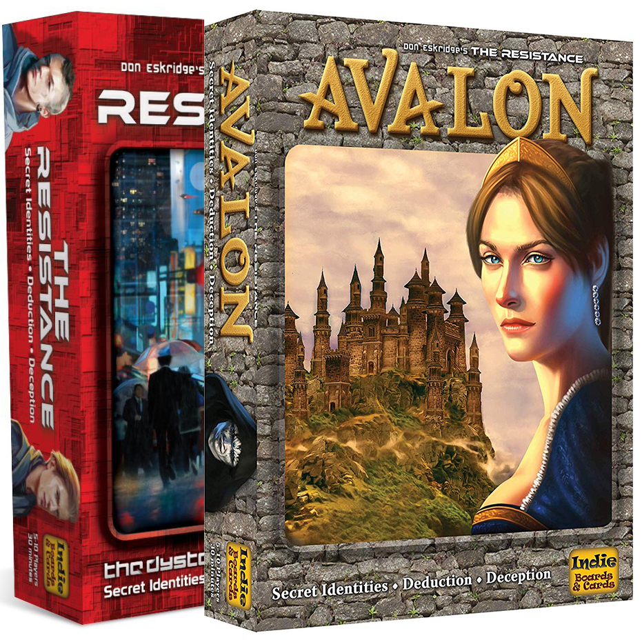 The Resistance Avalon Social Deduction Bard Game And Card Children's Educational Game