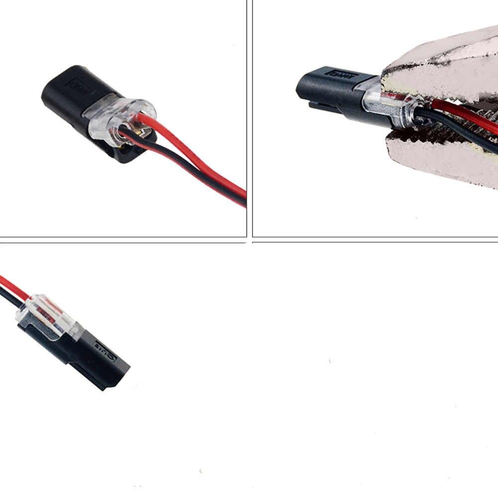 5 sztuk 2Pin wtykowe sprężyny scotchlok złącze drutu dla 22-20AWG drutu szybkie Splice przewód łączący Crimp skynka zaciskowa