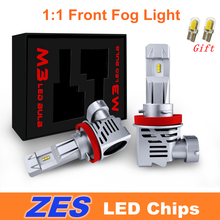 جميع في واحد نمط السيارات LED الجبهة الضباب ضوء لمبة M3 ZES HB3 HB4 9005 9006 H4 H7 H11 H9 h8 H10 في Canbus 12V 6500K Automotivo مصباح 24V