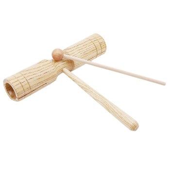 어린이 악기 장난감 타악기 악기 나무 Croak 블록 2 Mallet 재미있는 뮤지컬 완구 유아 어린이 선물 용품