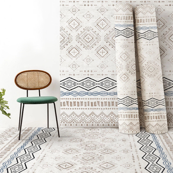 2020 Bohemian Carpet Printed Flannel Area Rug Room Area Rug Floor Printed Carpet For Living Room Bedroom Home Decorative Crapet