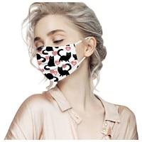 Unisex black cat printed soft mask