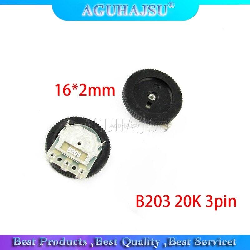 5 шт. потенциометр для настройки передач B203 20K 3pin 16*2 мм потенциометр