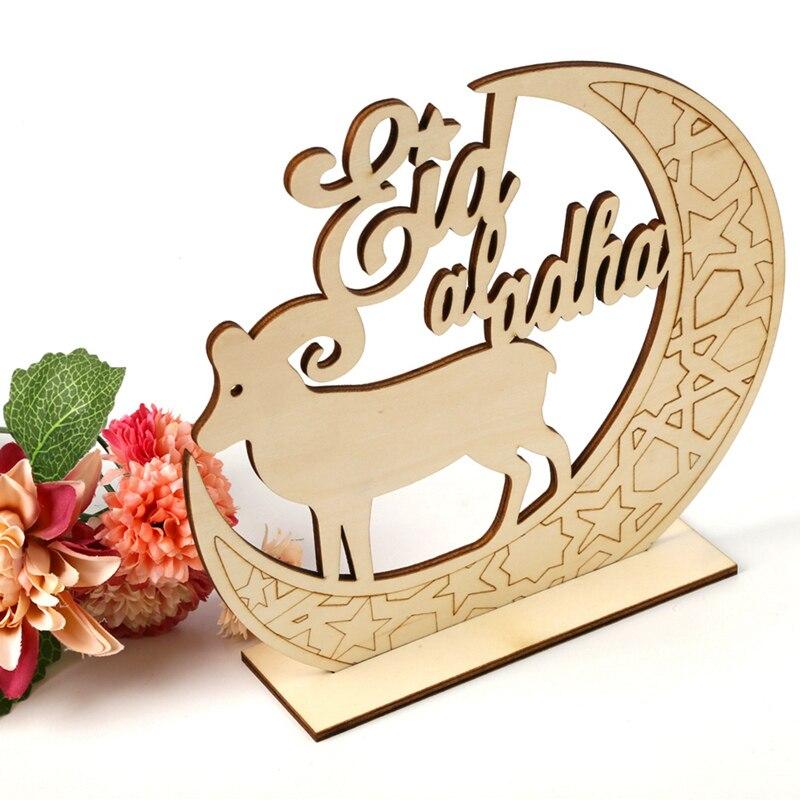 PATIMATE EID Mubarak Wooden Ornaments DIY Muslim Islam Hanging Pendants Ramadan Decoration Eid al Adha  Iftar Gifts Decorations