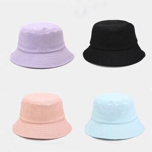 Unisex Summer Foldable Bucket Hat Women Outdoor Sunscreen Cotton Fishing Hunting Cap Men Bob Chapeau Sun Hats