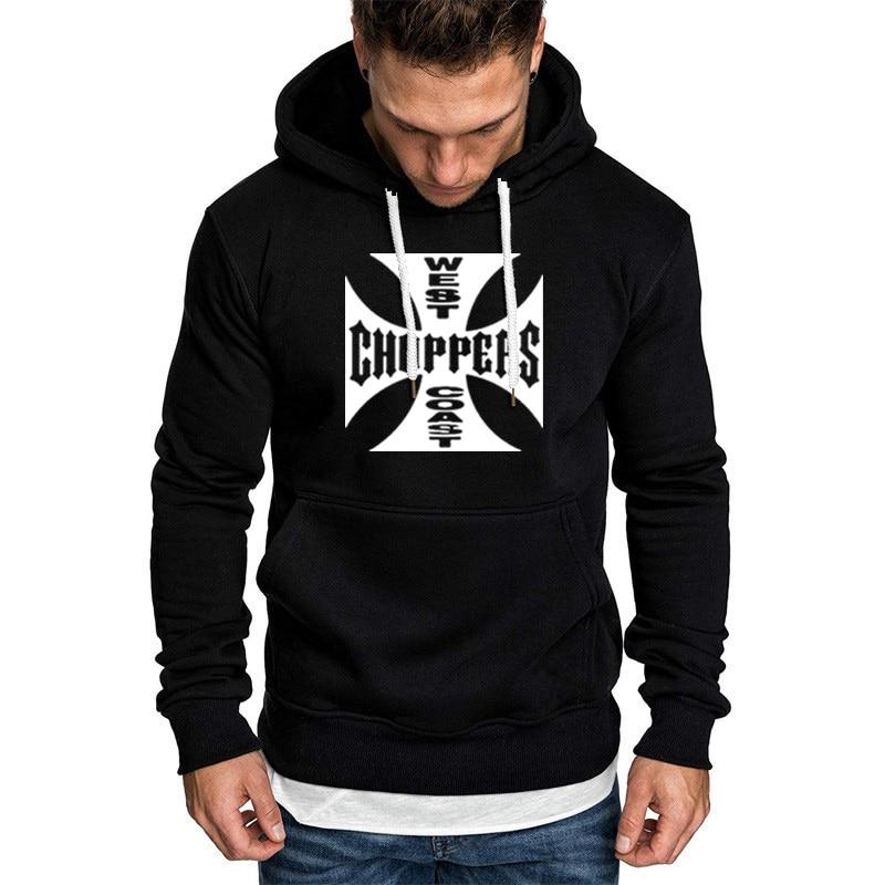 Spring Autumn Sweatshirt West Coast Choppers Hoodies Men Warm Fleece Hooded Hip Hop Harajuku Tracksuit Men Hoodies